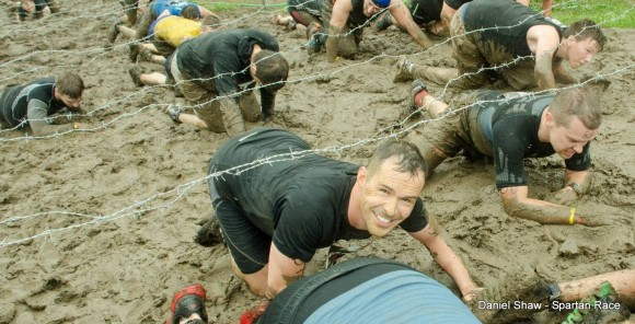 Mud crawling at the Spartan Race