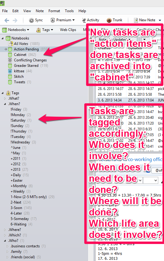 evernote task management